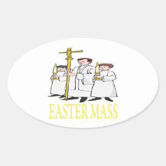 Easter Mass Oval Sticker