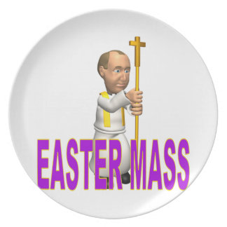 Easter Mass Party Plates
