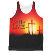Easter Means He Lives All-Over-Print Tank Top