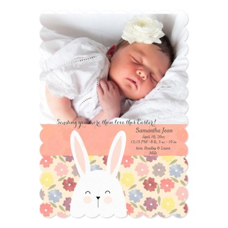 Easter Medley Photo Birth Announcement