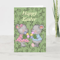 Easter Mice card