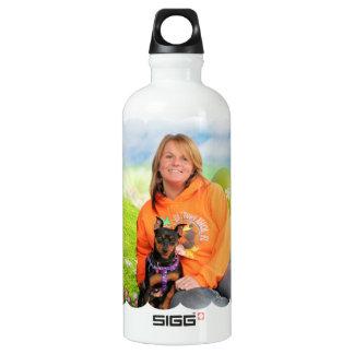 Easter - Min Pin - Zena and Gidget Aluminum Water Bottle