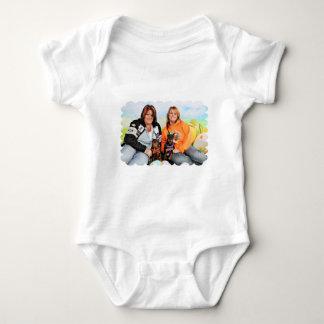 Easter - Min Pin - Zena and Gidget Baby Bodysuit