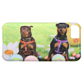 Easter - Min Pin - Zena and Gidget Cover For iPhone 5C