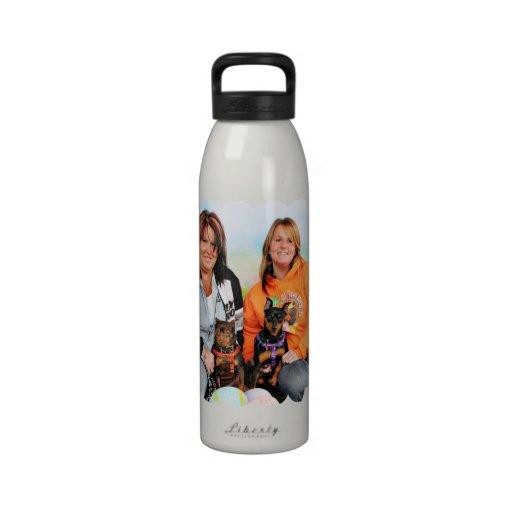 Easter - Min Pin - Zena and Gidget Drinking Bottle