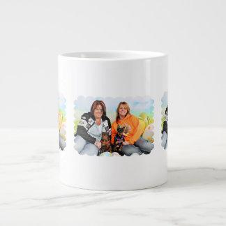 Easter - Min Pin - Zena and Gidget Large Coffee Mug