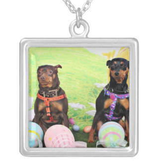 Easter - Min Pin - Zena and Gidget Custom Necklace