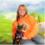 Easter - Min Pin - Zena and Gidget Photo Cut Outs