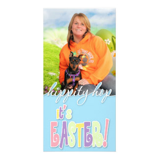 Easter - Min Pin - Zena and Gidget Photo Cards