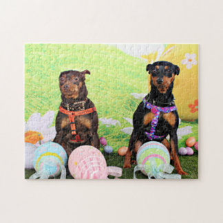 Easter - Min Pin - Zena and Gidget Puzzle