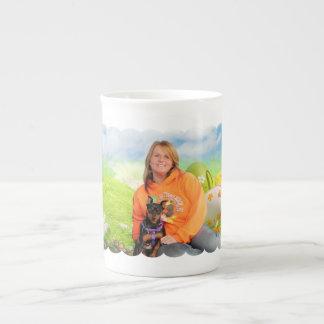 Easter - Min Pin - Zena and Gidget Tea Cup
