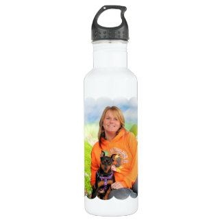 Easter - Min Pin - Zena and Gidget Stainless Steel Water Bottle