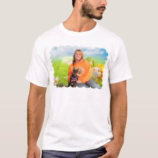 Easter - Min Pin - Zena and Gidget T-Shirt