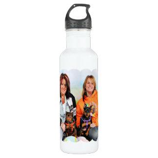 Easter - Min Pin - Zena and Gidget Water Bottle