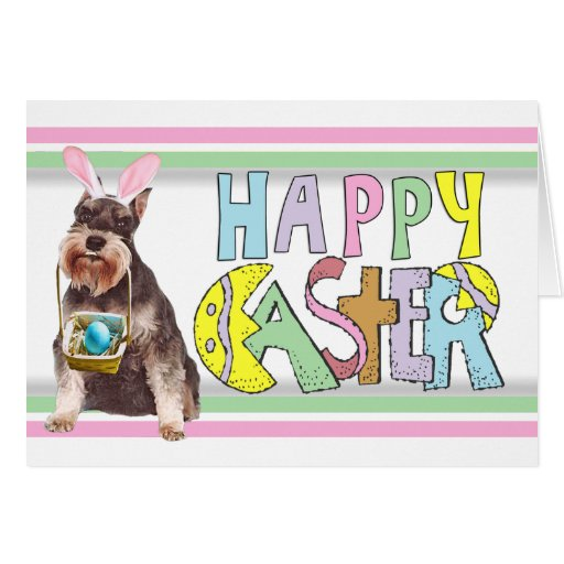 Easter Miniature Schnauzer Stationery Note Card