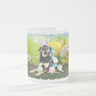 Easter - Mixed Breed - Jake 10 Oz Frosted Glass Coffee Mug