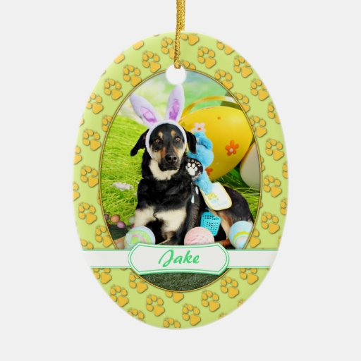 Easter - Mixed Breed - Jake Christmas Tree Ornaments