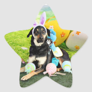 Easter - Mixed Breed - Jake Star Sticker