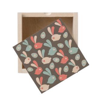 Easter Modern Twist Pattern Wooden Keepsake Box