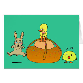 Easter Mona Greeting Card