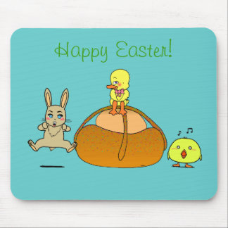Easter Mona Mouse Pad