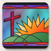 Easter Morning Cork Coaster