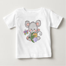 Easter Mouse Cartoon Baby T-shirt