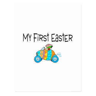Easter My First Easter (Egg Car) Postcard