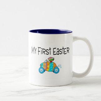 Easter My First Easter (Egg Car) Two-Tone Coffee Mug