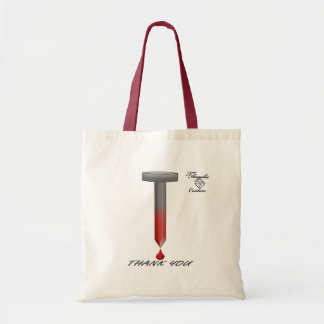 Easter Nail and Blood Budget Tote Bag