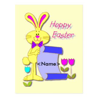 Easter Name Tag Postcard
