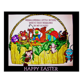 EASTER,NIBBLE,NIBBLE LITTLE MOUSE poster