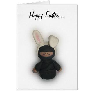 Easter Ninja Bunny Greeting Card