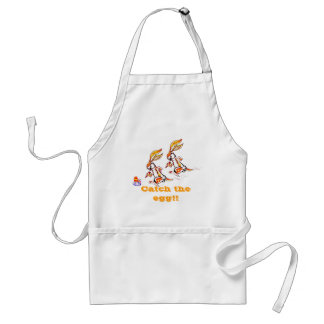 Easter on the run adult apron