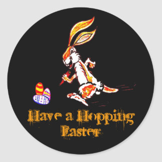 Easter on the run classic round sticker