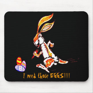 Easter on the run mouse pad