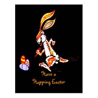 Easter on the run postcard