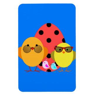 Easter or Spring Egg & Chick Family - Cute! Rectangle Magnet