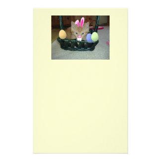 Easter Orange Tabby Kitten Stationery