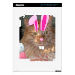 Easter Orange Tabby Kitty Cat iPad 3 Skin