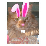Easter Orange Tabby Kitty Cat Personalized Letterhead