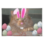Easter Orange Tabby Kitty Cat Place Mats