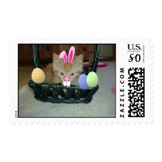 Easter Orange Tabby Kitty Cat Postage