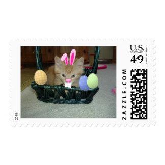 Easter Orange Tabby Kitty Cat Postage