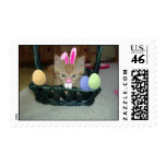 Easter Orange Tabby Kitty Cat Postage Stamps