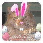 Easter Orange Tabby Kitty Cat Sticker