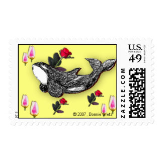 Easter Orca Stamp
