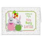 Easter -  Our Mommy - Bunnies & Balloons Card