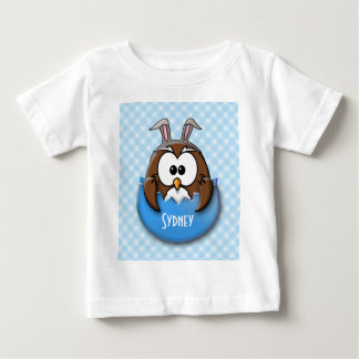 Easter owl - blue baby T-Shirt