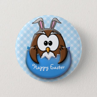 Easter owl - blue button
